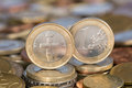 One euro coin from cyprus a the eu member country Stock Photography