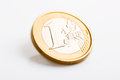 One Euro Coin Isolated Royalty Free Stock Photo