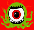 One Eye Monster Royalty Free Stock Photography
