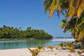 One foot island cook islands aitutaki beach south pacific Stock Images