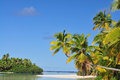One foot island cook islands aitutaki beach south pacific Stock Photos