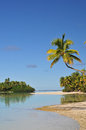 One foot island cook islands aitutaki beach south pacific Royalty Free Stock Images