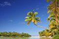 One foot island cook islands aitutaki beach south pacific Stock Photo