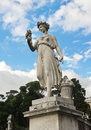 One of the four allegorical sculptures in piazza del popolo goddess abundance statue rome italy Royalty Free Stock Photography