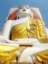 One of four seated buddha pago myanmar golden Stock Photography
