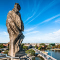 One of four statues on the rooftop of wroclaw universit university s mathematicians tower representing philosophy three other Stock Photography