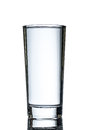 One full highball of water over white background Royalty Free Stock Photos
