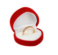 One gold ring in red box Royalty Free Stock Image