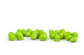 One green pea pod Royalty Free Stock Photo