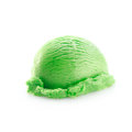 One green scoop of icecream Stock Photography