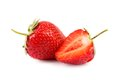 One and half strawberries. Royalty Free Stock Photo