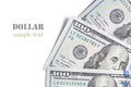 One hundred dollar bill closeup on white background Royalty Free Stock Photos