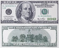 One hundred dollars banknote Royalty Free Stock Photo