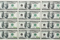 One hundred dollars banknotes Royalty Free Stock Photos