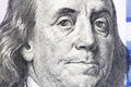 One Hundred Dollars. Benjamin Franklin portrait. USD, The United Royalty Free Stock Photo