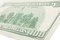 One hundred dollars bill. Macro Royalty Free Stock Photo