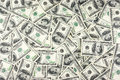 One hundred dollars pile as background Royalty Free Stock Photography
