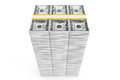 One hundred dollars stack Stock Photo