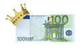 One hundred euro with the crown isolated render on a white background Stock Photo