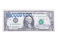 One hundred million dollars a banknote isolated on a white back background Stock Photos