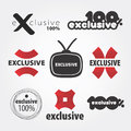 One hundred percent exclusive logo Royalty Free Stock Images