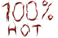 One hundred percent hot red pepper laid Royalty Free Stock Image