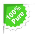 One hundred percent indicates organic products and completely pure representing natural Royalty Free Stock Image