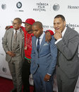 One jungle nas erik parker and attend the tribeca film festival opening night premiere of time is illmatic at the beacon theatre Royalty Free Stock Photos