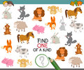 One of a kind with animals Royalty Free Stock Photo