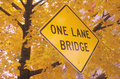 One Lane Bridge Royalty Free Stock Photos