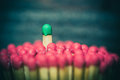 One match standing out from the crowd Royalty Free Stock Photo