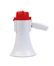 One megaphone isolated on a white background Stock Photography