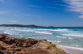 One mile beach port stephens australia sufer at in the fingal bay Royalty Free Stock Image