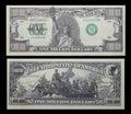 One million dollar bill money