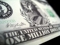One million dollars millennium bill Royalty Free Stock Photo