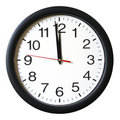 One Minute to 12 oclock Royalty Free Stock Photos