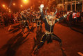 One muharram tradition surakarta loyal servant doing traditional carnival in order to commemorating in solo central java indonesia Stock Image