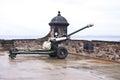 The One o'Clock Gun at Edinburgh Castle Royalty Free Stock Photo
