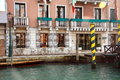 One of the old houses on the Grand Canal, Venice, Italy Royalty Free Stock Photo