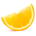 One orange fruit segment or cantle Stock Photo