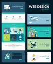 One page website design template all in set for that includes for responsive and set of flat concept Stock Photos