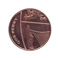 One penny coin currency of the united kingdom Royalty Free Stock Images