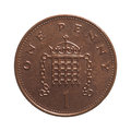 One penny coin Royalty Free Stock Photo