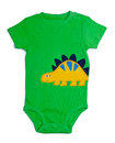 One Piece Green Baby Onesie Outfit Stock Images