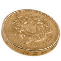 One pound British coin Royalty Free Stock Photo