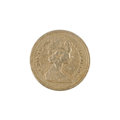 One Pound Coin Royalty Free Stock Photo
