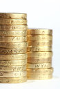 One pound coin stack Royalty Free Stock Photography