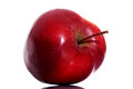 One red apple over white background Stock Photography