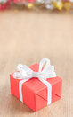 One red gift box Royalty Free Stock Photo