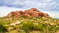 One of the red sandstone buttes of Papago Park near Phoenix Arizona Royalty Free Stock Photo